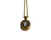 Gold Bullet Necklace