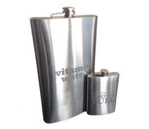 Flasks Display 64oz and 8oz